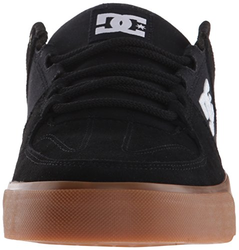 DC Men's Lynx Vulc Skateboarding Shoe, Black/Gum, 9 M US