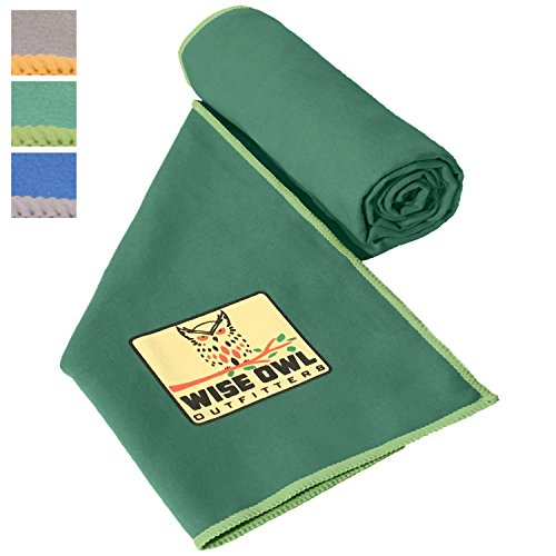 Fitness Towel - Set of Two Towels - Great for All Sports,Camping, Hiking, Yoga, Running And The Gym Or For Your Camp Survival Backpacking Outdoor Or Zombie Gear Bag Too - Large & XL Size 24x48 DG