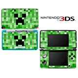 Minecraft Creeper Mob Decorative Video Game Decal Cover Skin Protector for Nintendo 3Ds