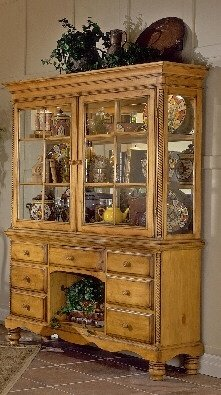 Buy Low Price Furniture Hillsdale Wilshire Antique Pine Bakers Rack Buffet & Hutch (B0017LUKAG)
