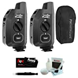 PocketWizard Plus X Radio Trigger with 10 Channels (Set of 2) + PocketWizard G-Wiz Carrying Bag for 2 Triggers