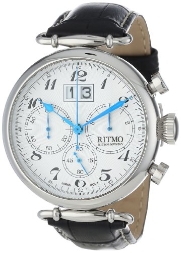 Ritmo-Mundo-Unisex-7011-SS-Corinthian-Classic-Quartz-Chronograph-Three-Oversized-Subdials-Watch