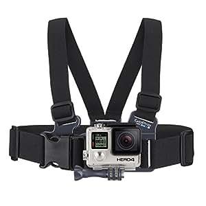 GoPro Harnais de poitrine pour enfant avec Support pour GoPro - Junior -  Noir