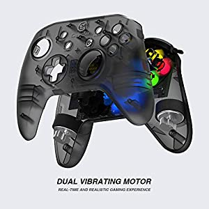 Wired PC Game Controller, GameSir T4w for Windows 7/8/8.1/10 with LED Backlight, Gamepad Game Controller Joystick with Dual-Vibration Turbo and Trigger Buttons