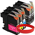 ink4work© Set of 5 Pack LC103 LC-103 High Yield Compatible Ink Cartridge Set for Brother MFC-J285DW, MFC-J4310DW, MFC-J4410DW, MFC-J450DW, MFC-J4510DW, MFC-J4610DW, MFC-J470DW, MFC-J4710DW, MFC-J475DW, MFC-J870DW, MFC-J875DW
