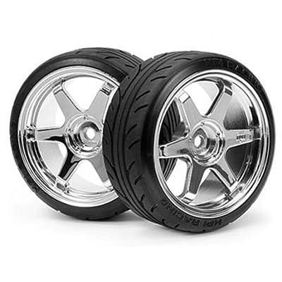 HPI Racing 4704 Mounted Super Drift Tire (A Type) on Te37 Chrome Wheels