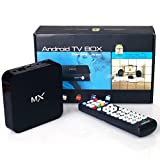 TV Box for -MX Android 4.2 TV Box - Free Movies & TV with fully Loaded XBMC AirPlay Mini Web Streaming HTPC Player, Dual Core Amlogic 8726MX SoC Cortex A9 1GB Ram, 8GB Internal Memory, WiFi, 1080P, Mali400 High Performance