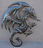 "Dragon Wall Sculpture, Metal Wall Art, Recycled Haiti, 20.5"" X 15"""