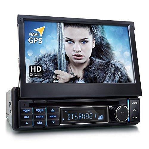 XOMAX-XM-DTSBN921-Autoradio-Moniceiver-Naviceiver-mit-GPS-Navigation-Navi-Software-inkl-Europa-Karten-Bluetooth-Freisprechfunktion-7-18-cm-Touchscreen-Display-169-HD-Auflsung-800-x-480-Px-Codefree-DVD