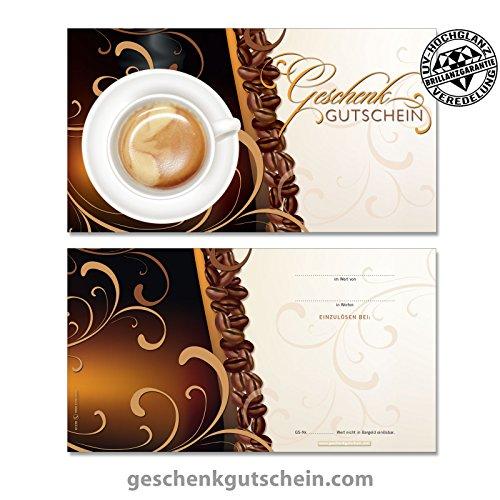 10 stk geschenkgutscheine f r kaffeeh user g1298. Black Bedroom Furniture Sets. Home Design Ideas