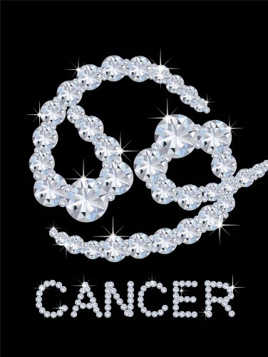 12 X 16 Inch / 30 X 40 Cms Diamond Zodiac Cancer Bling Vajazzle Horoscope Photo Fine Art Print Poster Bmp340B