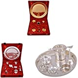 Gold Plated GL Pooja Thali Set,Silver Plated Royal Pooja Thali Set With Ganesh Laksmi And Silver Plated Daily...