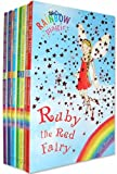 Rainbow Magic Colour Fairies Collection 7 Books Pack Set (Series 1 to 7) RRP £27.93 ( Ruby the Red Fairy, Amber the Orange Fairy, Saffron the Yellow Fairy, Fern the Green Fairy, Sky the Blue Fairy, Izzy the Indigo Fairy, Heather the Violet Fairy ) (Rain
