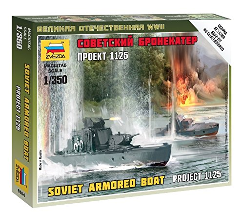 Zvezda Models Soviet Armored Boat Model Kit (1/350 Scale)