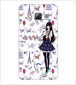 PrintDhaba Fantasy Girl D-1027 Back Case Cover for SAMSUNG GALAXY A3 (Multi-Coloured)