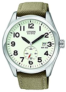 "Citizen Men's BV1080-18A ""Eco-Drive"" Stainless Steel and Nylon Sport Watch"