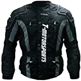 TMS® Enduro Armor Jacket Motorcycle Touring Dual Sport Dirt Bike ATV (Large, Black)