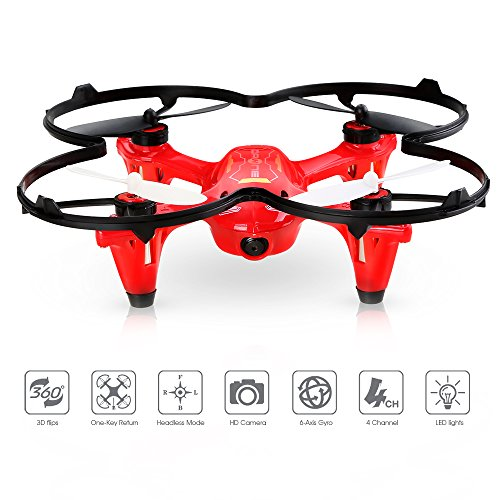 DEERC-HS170C-Predator-2-Mini-RC-Quadcopter-Drone-with-HD-Camera-24Ghz-4-CH-6-Axis-Gyro-HelicopterMulticolor-BLACKRED
