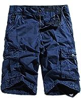 WenVen Men's Active Cargo Shorts Cotton Outdoor Wear Lightweight