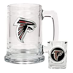 NFL Atlanta Falcons Boilermaker Set (Primary Logo) by Great American Products