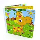 Highdas rompecabezas de madera de libros, Perfecto Preescolar Juego de puzzles para ni�os peque�os ni�os, Jigsaw Puzzle para la Educaci�n