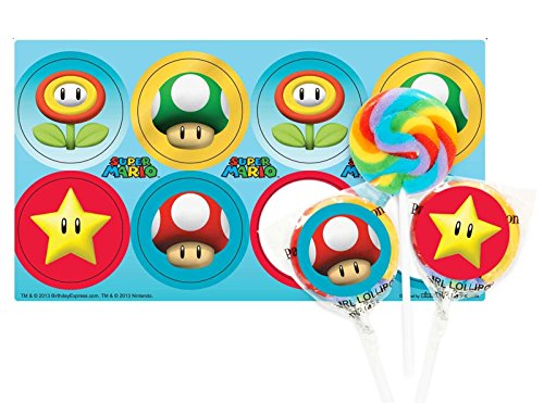 Super Mario Party Lollipop Favor Kit