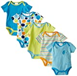 BabyGear Baby-Boys Newborn Boys 5 Pack Grow with Me Bodysuits-Giraffe