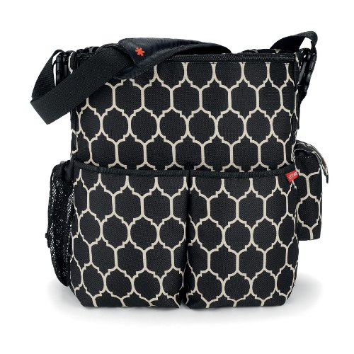 skip hop duo essential diaper bag onyx tile designer nappy bags. Black Bedroom Furniture Sets. Home Design Ideas