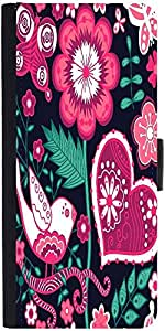 Snoogg Seamless Texture With Flowersdesigner Protective Flip Case Cover For X...