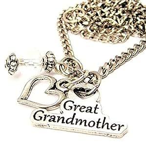 amazoncom great grandmother pewter charm 18quot fashion