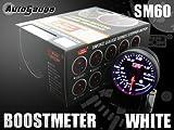 オートゲージ(AUTOGAUGE) ブースト計 SM 60Φ ホワイトLED ワーニング付
