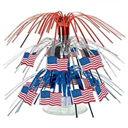 Beistle Company 57369 Flag Mini Cascade Centerpiece - Pack of 12