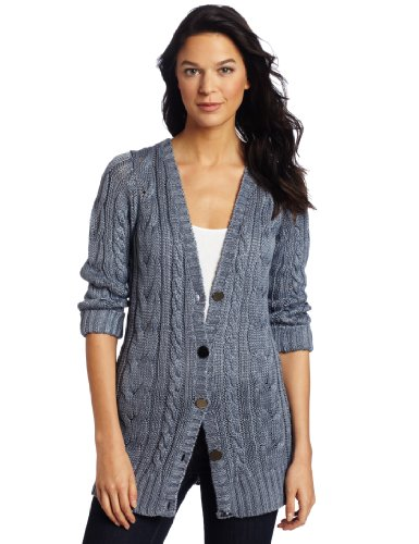 Margaret O'Leary Women's Cable Knit Vee Cardigan