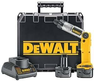 "DeWALT DW920K-2 Heavy-Duty 1/4"" (6mm) 7.2V Cordless Two-Position Screwdriver Kit"