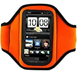 Vangoddy Orange Color Neoprene Workout Exercise Armband fits Smartphone Mobile Phones Samsung Blackberry HTC LG Nokia (12.4 x 7 x 0.6 cm, ArmLength 29.8 cm)