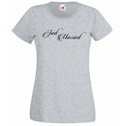 donna-sposa-e-personalizzata-t-shirt-con-citazione-just-married-lattine-fruit-of-the-loom-super-prem