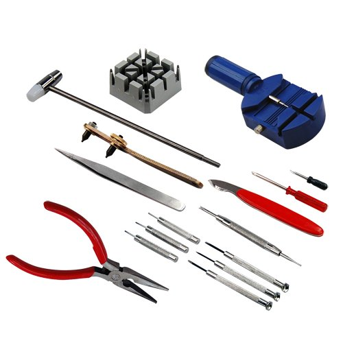 16 Piece Watch Repair Tool Kit Set Pin Strap Remover