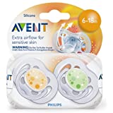 Philips Avent Contemporary FreeFlow Pacifiers, 6-18 months (Pack of 2)