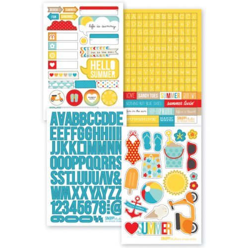 Simple Stories Snatp! Stickers Sheets, 4 by 6-Inch, Summer, 4-Pack