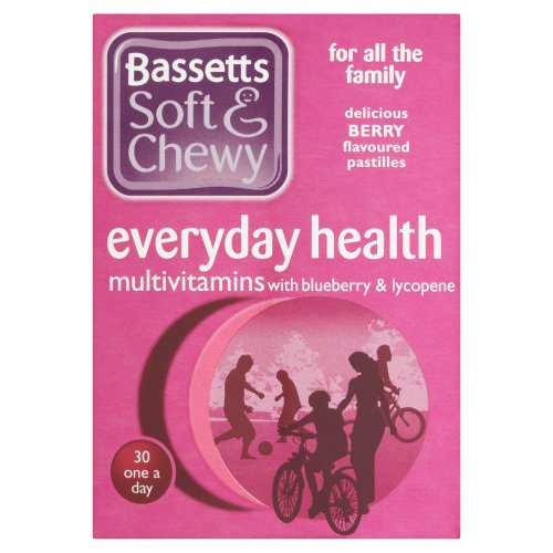 Bassett's Soft & Chewy Everyday Health Multi Vitamins - Blueberry & Lycopene Flavour 30 Pastilles