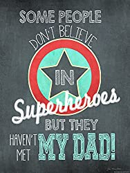 Heritage 1093 Superhero Dad Wall Decor 24 x 18-Inch 24 x 18-Inch