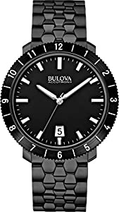 Bulova Accutron II Moonview Black Bracelet and Dial Watch