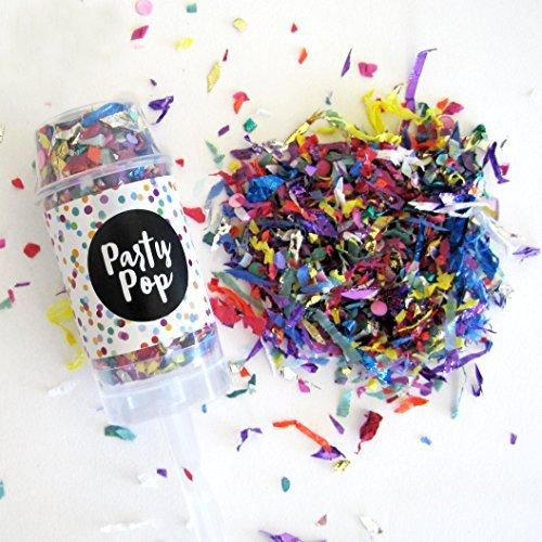 Confetti Party Pop - Confetti Poppers - Push Pop (Confetti Push Poppers compare prices)