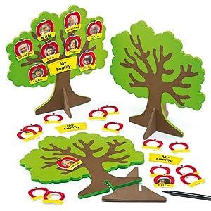 stammbaum bastelset baum aus moosgummi f r fotos zum basteln f r kinder pro st ck amazon. Black Bedroom Furniture Sets. Home Design Ideas
