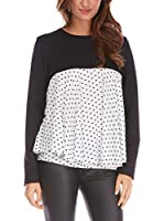 FRENCH CODE Blusa Billy (Negro / Blanco)
