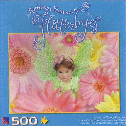 Kathleen Francour Flitterbyes Gerbera Daisy Garden 500 Piece Puzzle