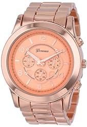 """Geneva Women's 2365-rosegold-GEN  """"Boyfriend"""" Watch"""