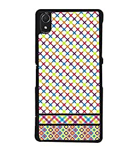 Multicolour Pattern 2D Hard Polycarbonate Designer Back Case Cover for Sony Xperia Z2