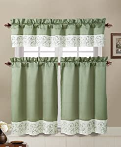 Sage Green And Ivory Embroidered Kitchen