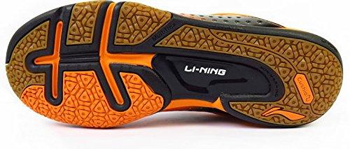 Li-Ning HERO NO-1 AYZH039-4 Badminton shoes, Black/Orange